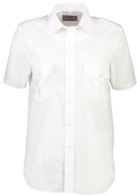 Mens Short Sleeve Pilot Dress Shirt White-Corinthian-Downunder Pilot Shop