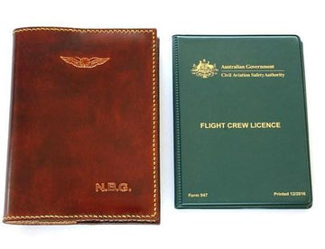Sparrowhawk CASA (Australia) Licence Folder Cover - Hand Finished Leather - One Colour
