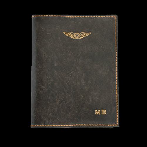 Sparrowhawk Australian CASA Logbook Licence Folder Cover Combo - Nubuck and Hand Finished Leather