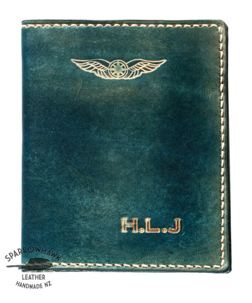 Sparrowhawk (New Zealand) Pilot's Licence & Medical Certificate Wallet - Navy