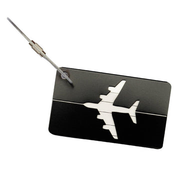 Aluminium Luggage Tag - Black