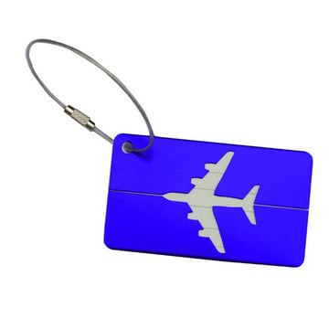 Aluminium Luggage Tag - Blue