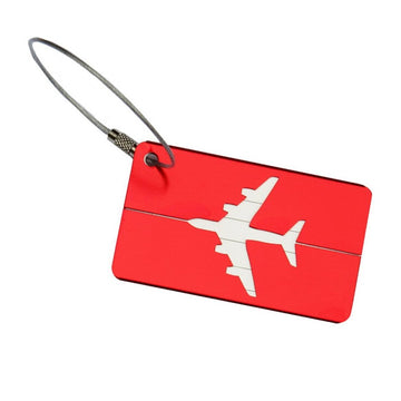 Aluminium Luggage Tag - Red
