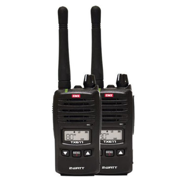 GME TX677 2 Watt UHF CB Handheld Radio, Twin Pack