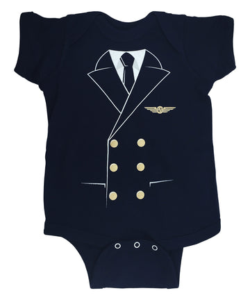 Pilot Uniform Baby Bodysuit