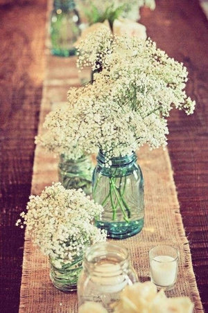 Baby's Breath and Mason Jar Package