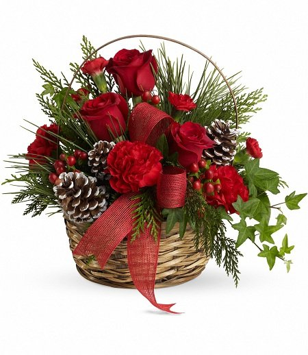 Belvedere Place Christmas Flower Basket