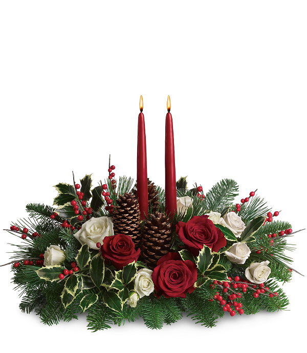 Baker Place Christmas Candle Arrangement