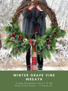 Winter Grape Vine Wreath