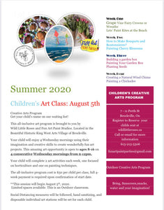 Creative Arts Program August 4 Week Program