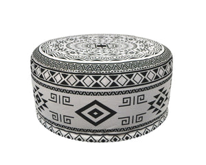 Inflatable Navajo Pouffe