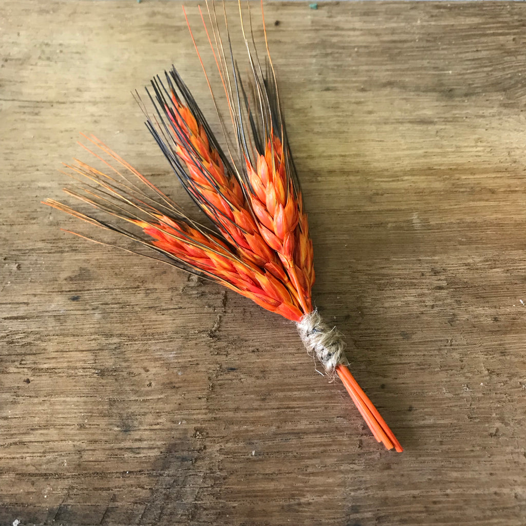 Country Wheat Boutonnière