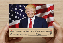 Trump Fan Card - hilarious, harmless prank idea for your liberal friends