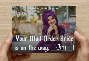 Mail-Order Bride Postcard
