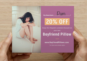 Boyfriend Pillow Postcard