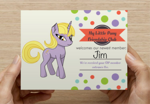 My little pony funny birthday card, april fools