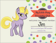 My Little Pony Friendship Club Prank Postcard. Welcome newest member.