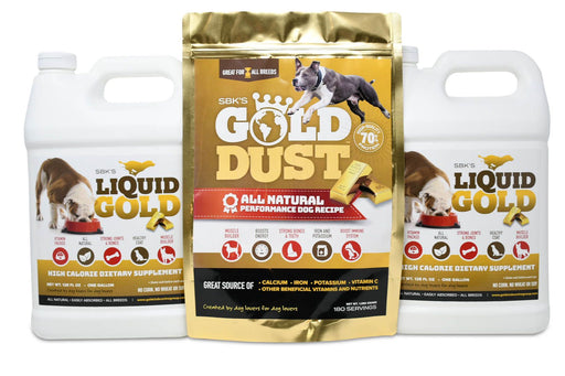SBK's Liquid Gold & Gold Dust Bundle (Two Gallons + One 180 Serving)