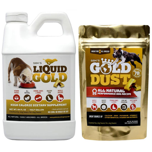 SBK's Liquid Gold & Gold Dust Bundle (One Half Gallon + One 30 Serving)