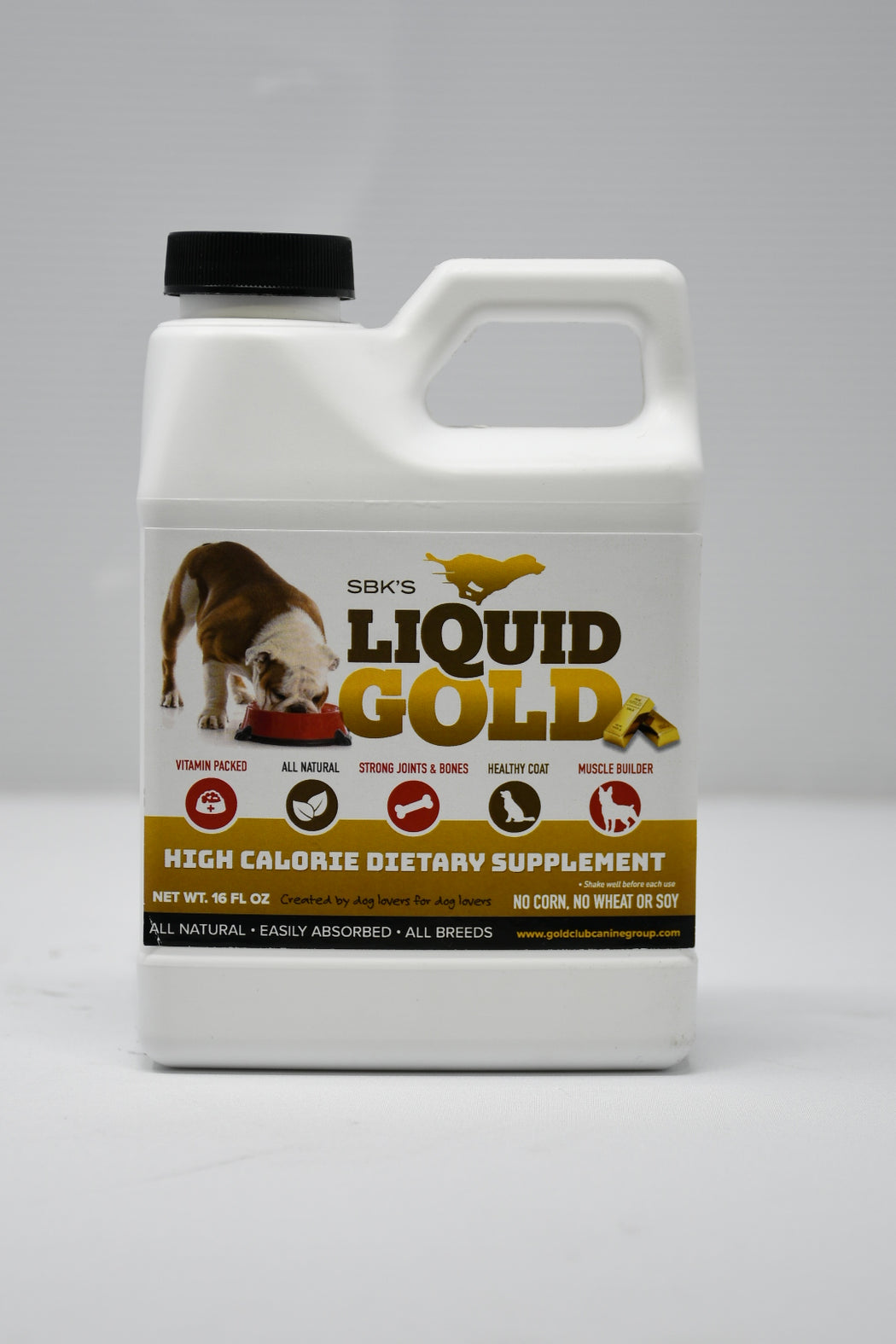 SBK's Liquid Gold High Calorie Supplement for Canines and Felines (16 oz)