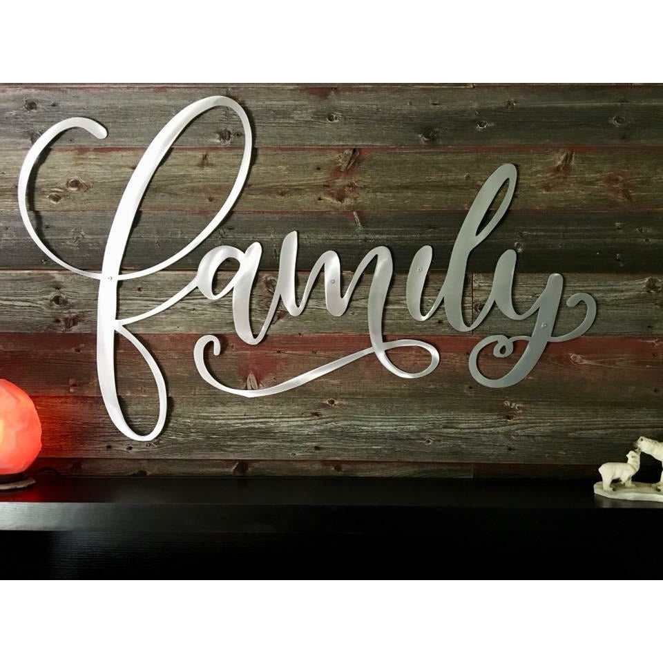 Family Steel Wall Sign