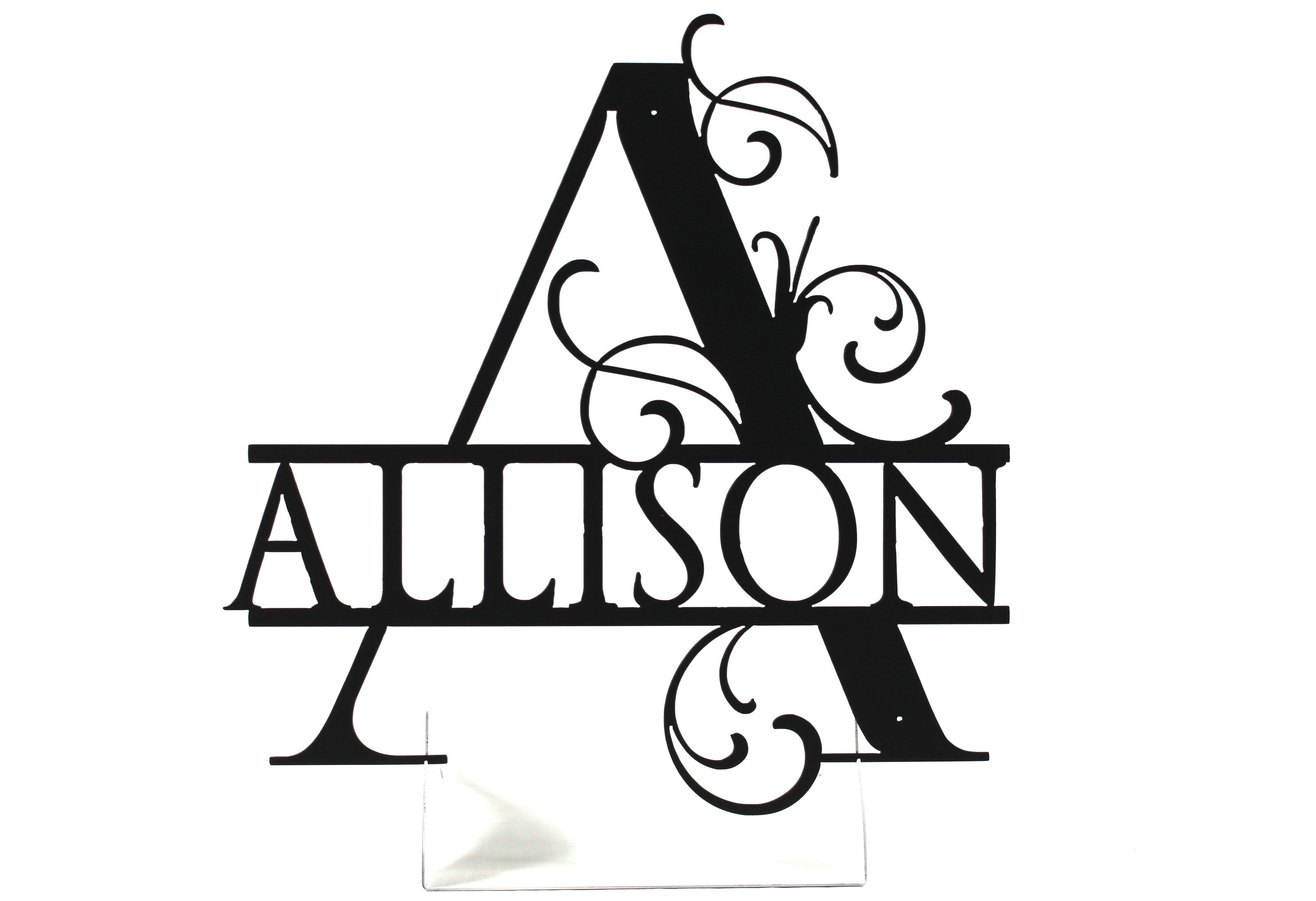 Fancy Letter Personalized CNC Metal Sign