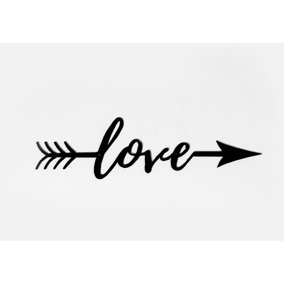 Love Arrow CNC Metal Sign