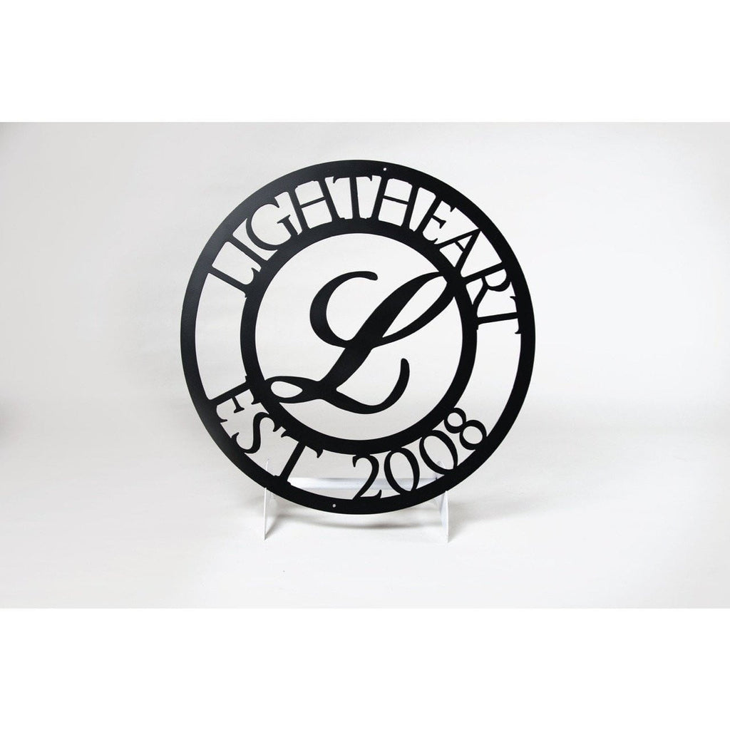 Personalized Steel Monogram