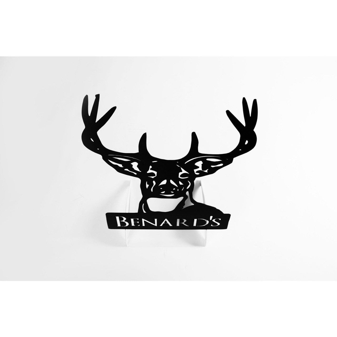 Personalized Metal Deer Sign
