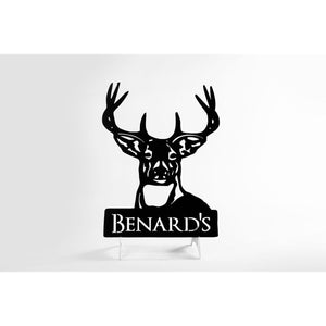 Personalized Deer Metal Sign