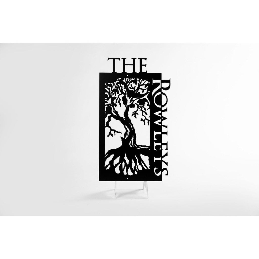 Personalized Family Tree Metal Sign