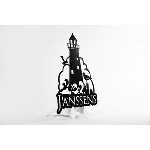 Custom CNC Cut Metal Lighthouse sign
