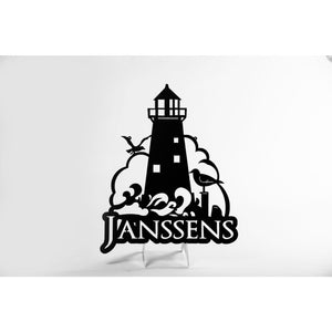 Personalized Lighthouse wall sign