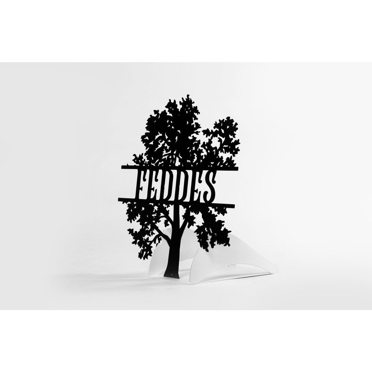 Metal Tree Sign with Custom Lettering