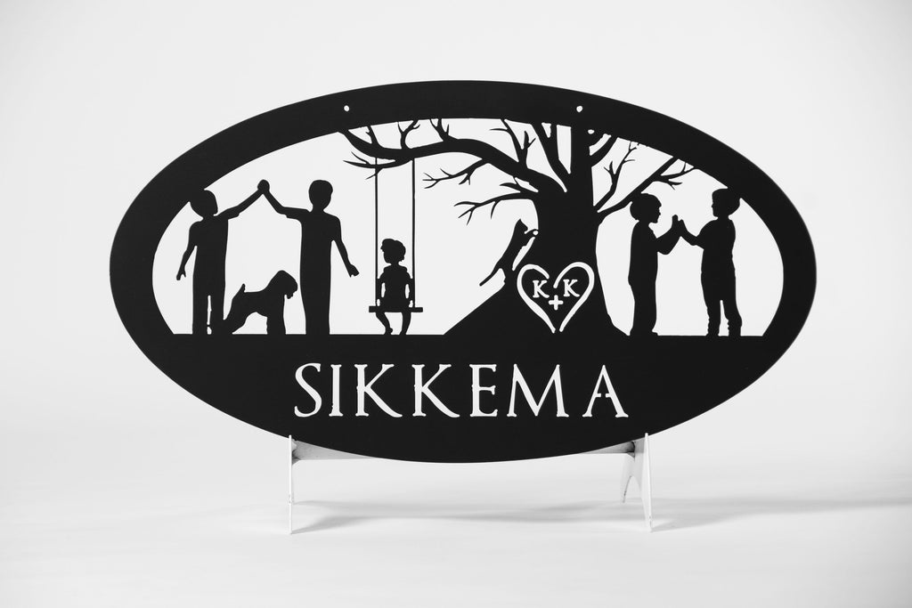 Personalized Family Metal Sign