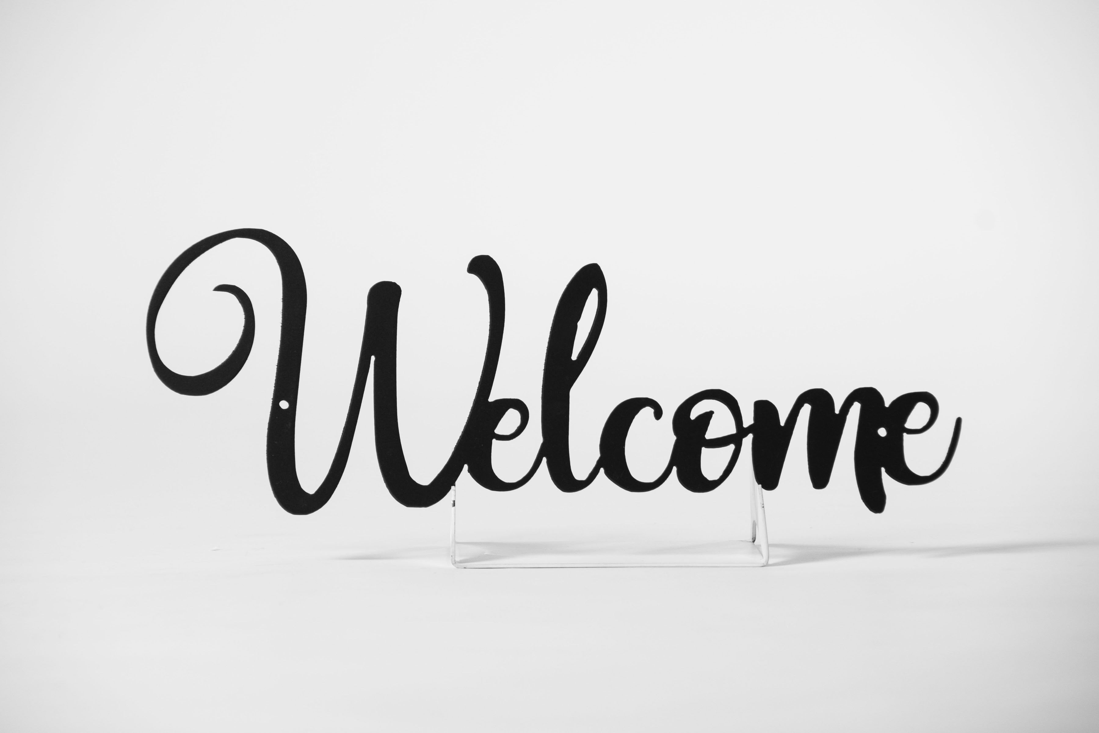 TESTMetal Welcome Door Sign