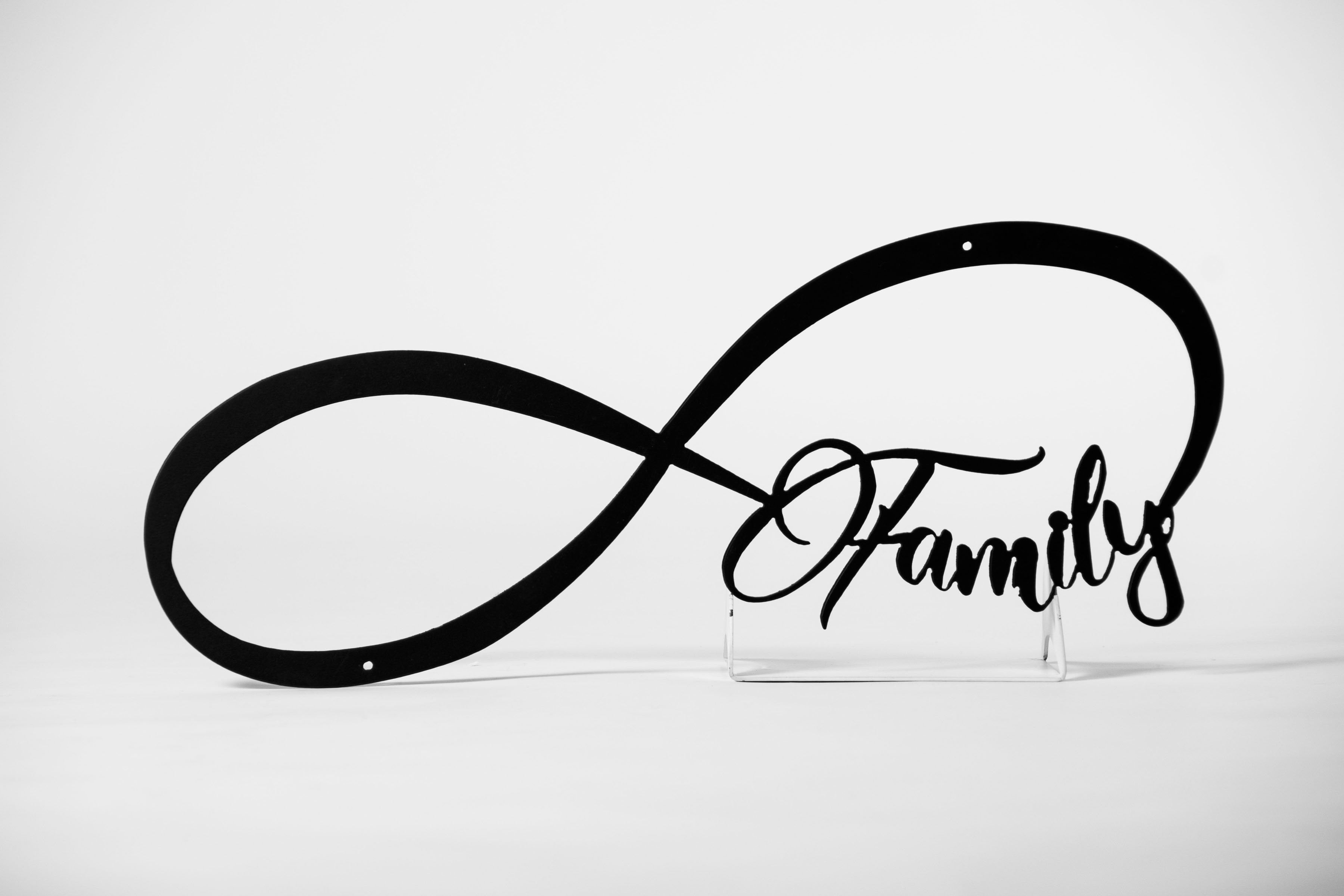 Family Infinity Metal Sign Gift