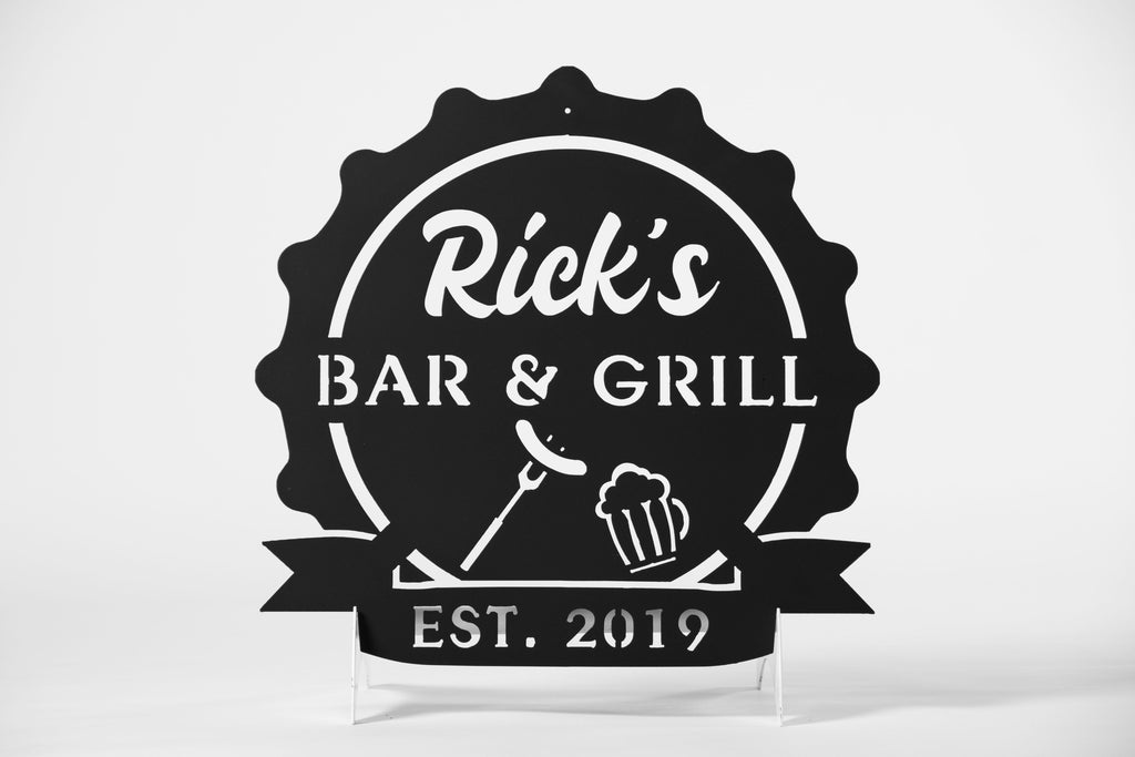 Personalized Bar & Grill sign