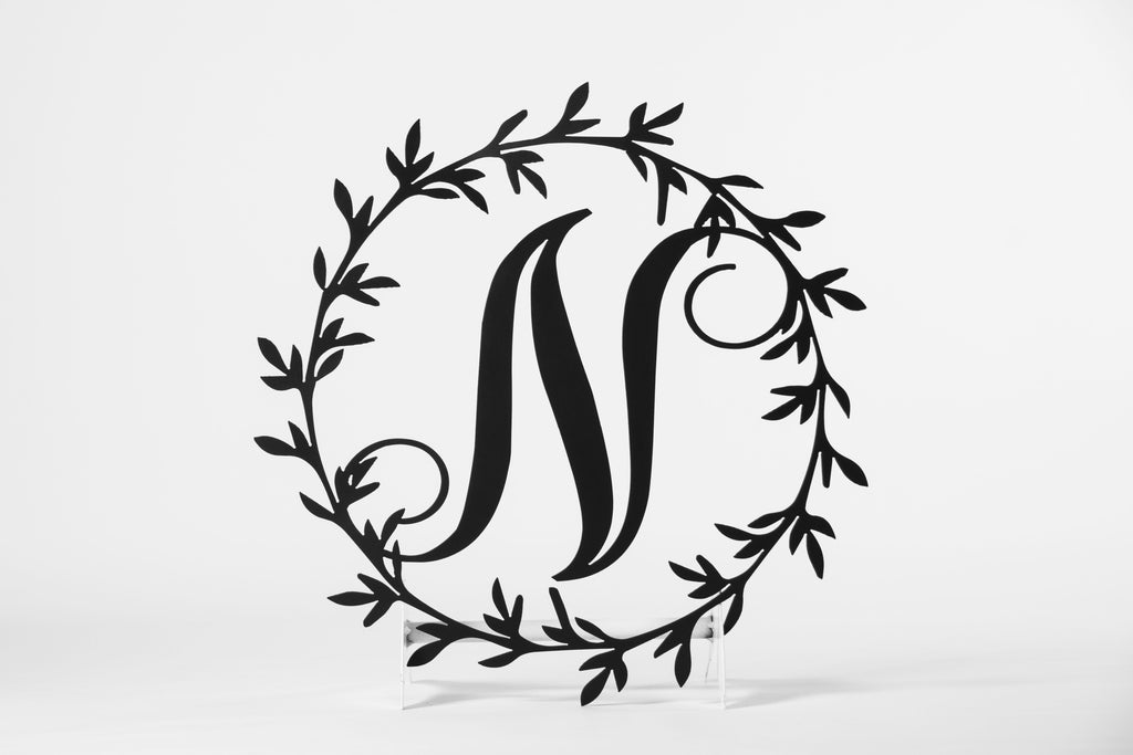 Personalized Metal Letter Wreath