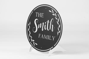 Family Wreath Monogram