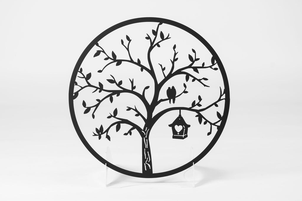 Bird House Tree Sign