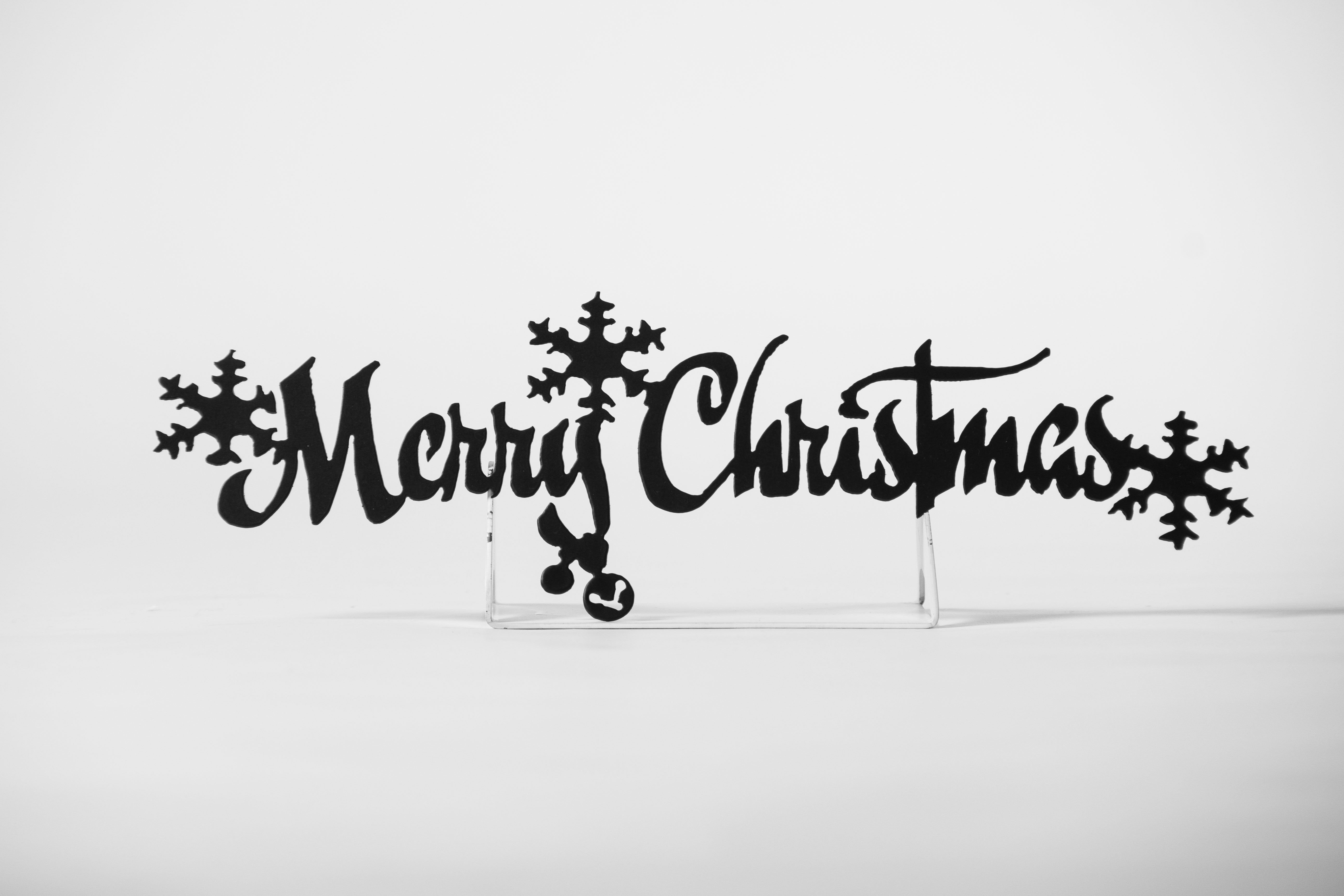 Merry Christmas Metal Door Sign