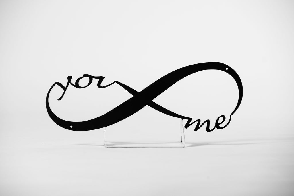 You & Me for Infinity Metal Sign