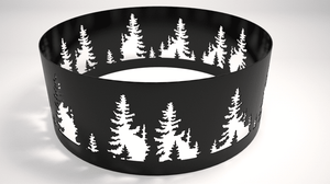 Nature Theme Steel Fire Ring