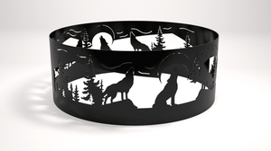 Wolf Themed Decorative Fire Pit