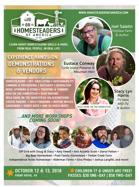Being Accepted to the Homesteaders Of America Conference 2018