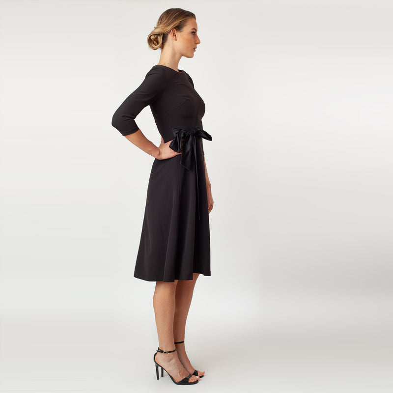 CN7142_T-Length Side Tie Dress - Cenia New York