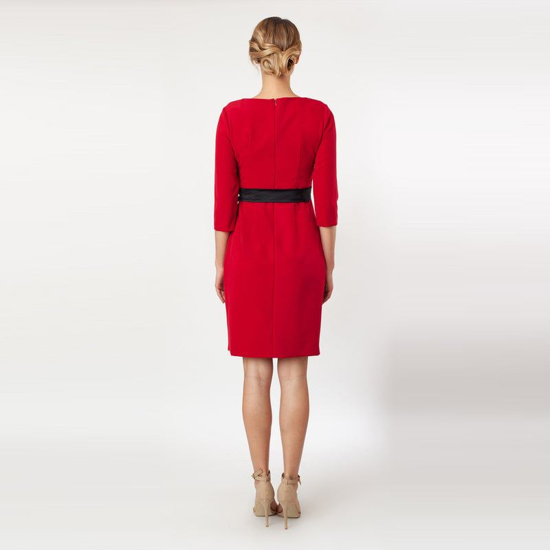 CN7147-Contrast Side Tie Sheath