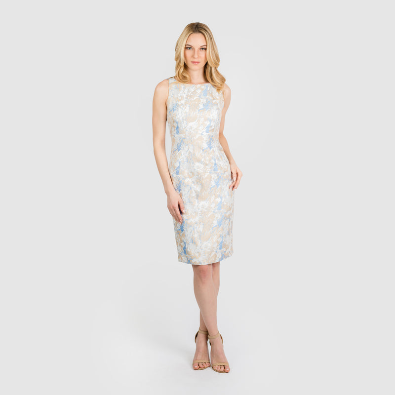 CN7173D Slvss Sheath Dress - Cenia New York