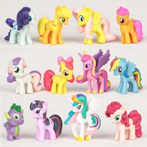 Your Toy Zoo Action & Toy Figures Multi 12 Pc Cute PVC Horse Sets